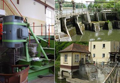 Wasser-Kleinkraftwerk mit Kaplan-Turbinenregelung